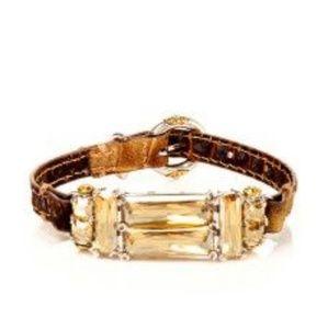 Henri Bendel Leather Deco Strap Bracelet